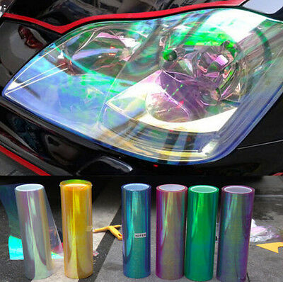 "12"" X 48"" Chameleon Front Headlight Vinyl Wrapping Sheet Film Sticker"