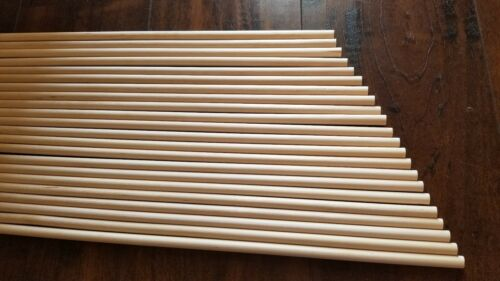 """Brand New Lot of 25 Birch Wooden Dowel Rods 3//8/"""" x 18/"""" Unfinished Blue Mass Wood"""