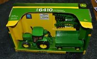 John Deere Ertl 1999 Tractor 6410 With Wagon And Disk 15489 1/32 Scale