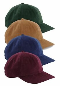 Cord Baseball Cap Corduroy Cotton Heritage Hat Mens Womens Ladies Urban Wear