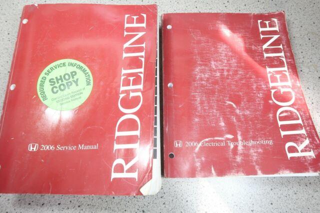 2006 Honda Ridgeline Truck Service Repair Manual Set W Etm Wiring Diagram Oem