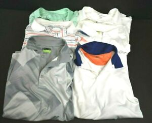 Mens-XXL-Short-Sleeve-Mixed-Brands-amp-Styles-Breathable-Golf-Polo-Shirts-Lot-of-6