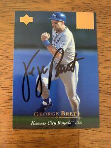 George-Brett-1994-UD-Hand-Signed-Autographed-Baseball-Card-W-COA-Royals-HOF