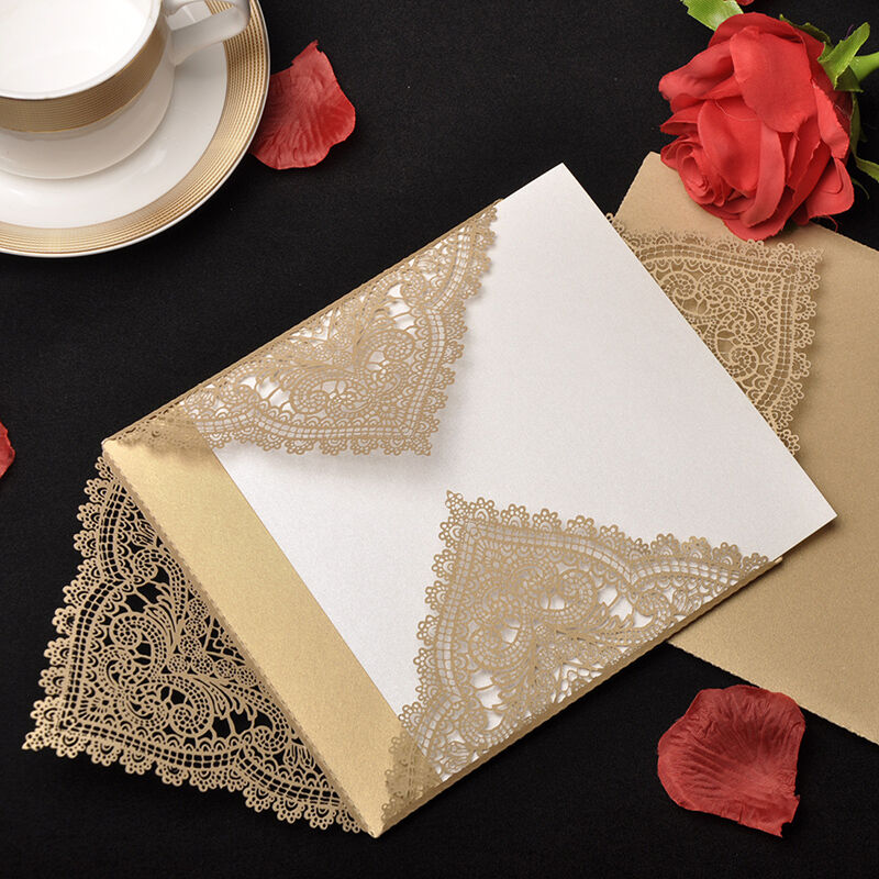 Champagne Printing Personalized Wedding Invitations Cards & Envelopes & Seals