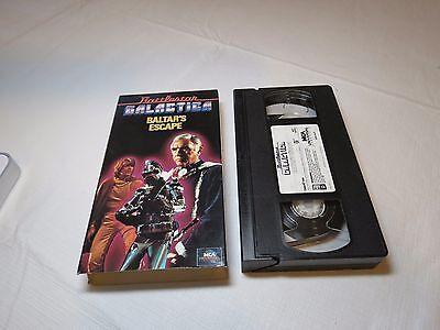 Battlestar Galactica Baltar's Escape VHS tape RARE MCA Lorne Greene Hatch