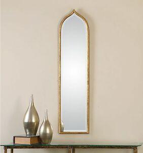 Tall Wall Mirror tall slim gold wall mirror - thin frame | ebay