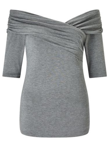 Unique Bruce by Bruce Oldfield 73 NYC Wrap Shoulder Top