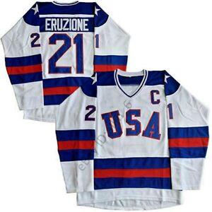1980-USA-Olympic-Hockey-21-Mike-Eruzione-17-O-039-Callahan-Men-039-s-Hockey-Jersey