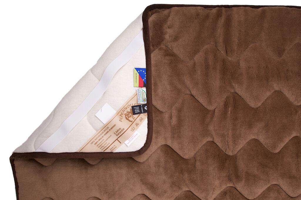 Unterbett Matratzen- Bettauflage Schonbezug aus Kamelwolle (570g m²), 160x200cm