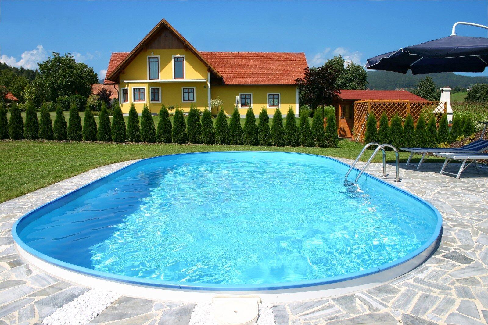 Pool Schwimmbad Ovalpool Lugano  4,20 x 8,00 x 1,50m