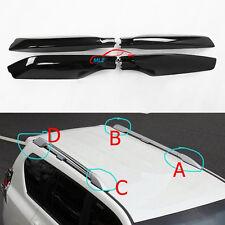Black Roof Rack Bar End Cover Shell 4P For Toyota Land Cruiser Prado Fj150 10-16