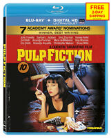 Pulp Fiction (blu-ray, 2011) Sealed Drama Samuel L. Jackson John Travolta Uma