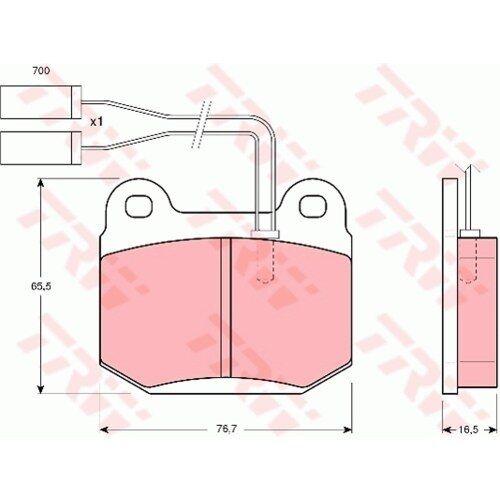 TRW Original Bremsbelagsatz Scheibenbremse 20997 Vorderachse GDB364 Alfa