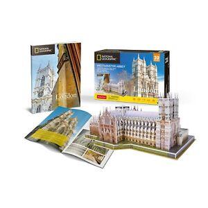 National-Geographic-Abadia-de-Westminster-Rompecabezas-3D-Modelo-folleto-PL