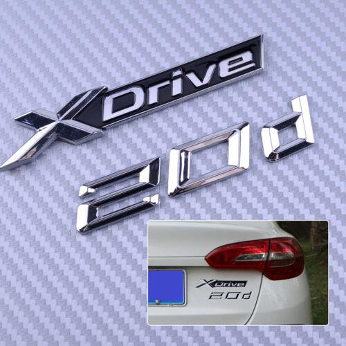Letters Number Trunk Emblem Badge Sticker for BMW XDrive 20d