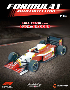 MODELLINO Formula 1 Auto Collection 1:43 n° 194 LOLA T93//30-1993 LUCA BADOER