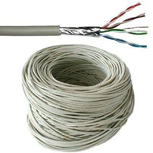 100m cat5e ftp shielded cable reel drum pure copper ethernet network lan rj45 ebay. Black Bedroom Furniture Sets. Home Design Ideas