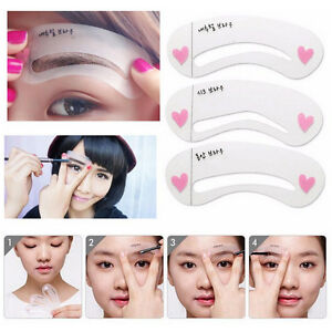 Magic Eye Brow Class Drawing Guide Eyebrow Stencil Card Template