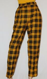 c6578d610fc1 Image is loading JEAN-PAUL-GAULTIER-CLUELESS-Yellow-Plaid-Tartan-Pants