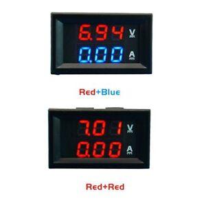 DC-100V-10A-Voltmeter-Ammeter-Blue-Red-LED-Amp-Dual-Digital-Volt-Meter-Gauge-iK