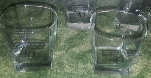 Lot 2 Forty Creek Whiskey Cocktail Glass Glasses Tumblers Square 40