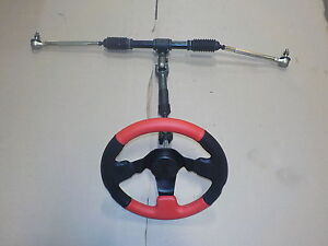STEERING-KIT-GO-CART-BUGGY-RACK-WITH-TIE-RODS-STEERING-WHEEL-AND-SHAFT-NEW