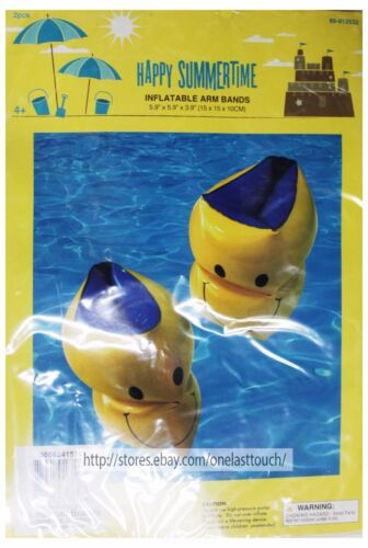 MOMENTUM BRANDS Happy Summertime INFLATABLE POOL TOYS+ARM BANDS New *YOU CHOOSE*