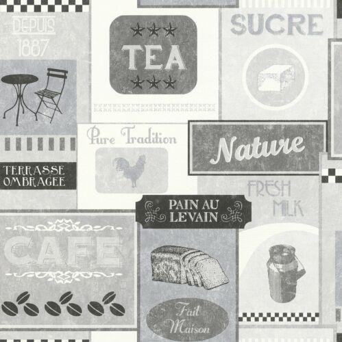 Wallpaper non-woven vintage diner grey 518429 Rasch Deco Relief 3,96£//1qm