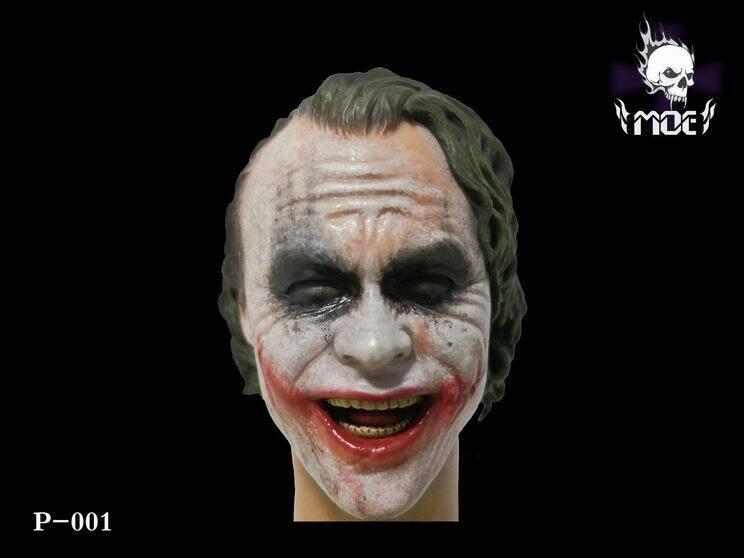 1 4 el Guasón cabeza esculpida sonrisa Ver. moeJuguetes P-001 ajuste Sideshow Enterbay HT Cuerpo