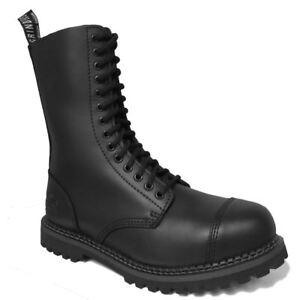 de Unido Cs ojal 8 cuero amoladoras negro Herald botas de piel punk 12 14 Reino Derby Hombres wfzXaAqq