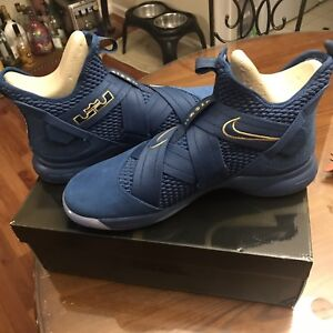 sports shoes 32c6e 66886 Details about Nike Lebron Soldier XII SFG Agimat Mens AO4054-400 Blue  Aegean Shoes Size 14