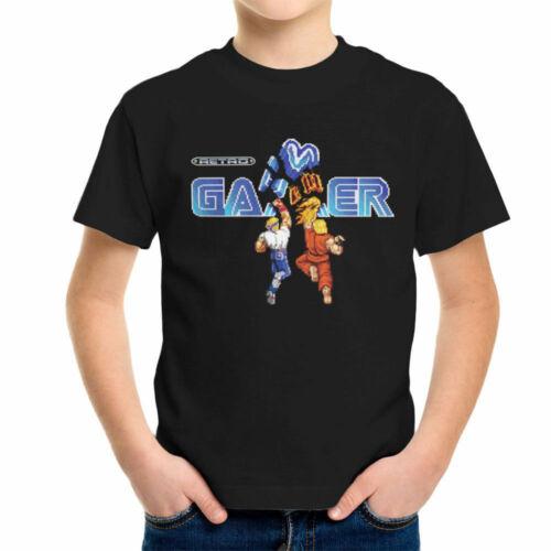 Retro Gamer Street Figher Sega Arcade Axel Ken Masters Kid/'s T-Shirt