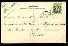 Norway 1903 u/b PPC Nordkap + Nordkap postmark to France