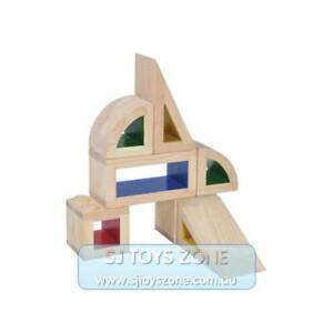 Blue Ribbon Non-Toxic Wooden Hollow Lock Building Blocks Set Free Shipping Const