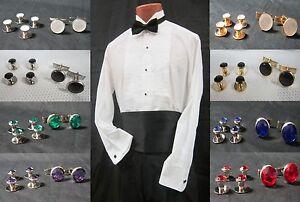 Mens Wedding Studs & Cufflink Tuxedo Shirt Stud Cufflinx Prom Tux Cuff Link  Set | eBay