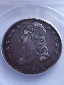 1834 Capped Bust Half Dollar. ANACS CERTIFIED VF35. SMALL DATE, SM LETTERS LE517