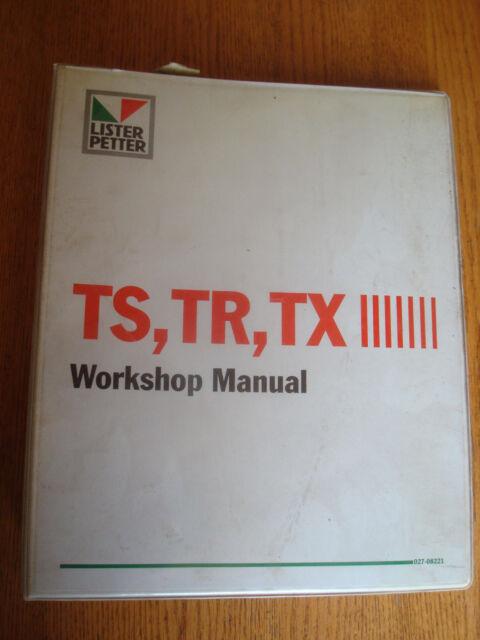 Lister Petter Ts Tr Tx Workshop Manual W   Binder 027