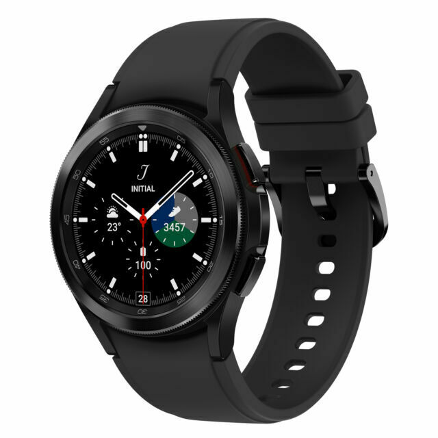 Samsung Galaxy Watch4 Classic SM-R895 46mm Stainless Steel Case with Ridge-Sport Band – Black (LTE) (SM-R895FZKAXSA) for sale online | eBay
