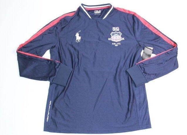 Polo Sport Ralph Lauren  USA  Flag Jersey Navy  Blau   Shirt L LARGE