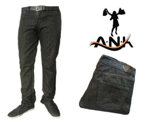 NUOVA linea uomo Jeans Pants Slim Fit Straight Leg Denim Jeans Pantalone