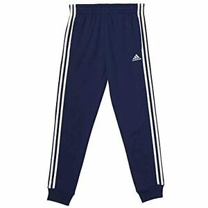 adidas-Boys-039-Navy-Fleece-Jogger-Cuff-Ankle-Sweatpants-Sz-L-TINI-amp