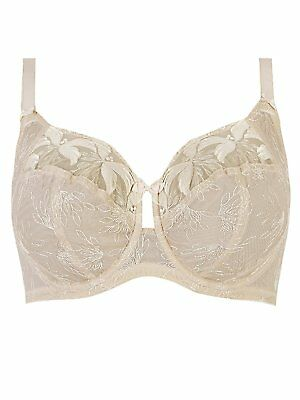 BNWT MARKS SPENCER M/&S LUXURY WHITE EMBROIDERED BALCONY BRA COMFORT STRAP 30 DD