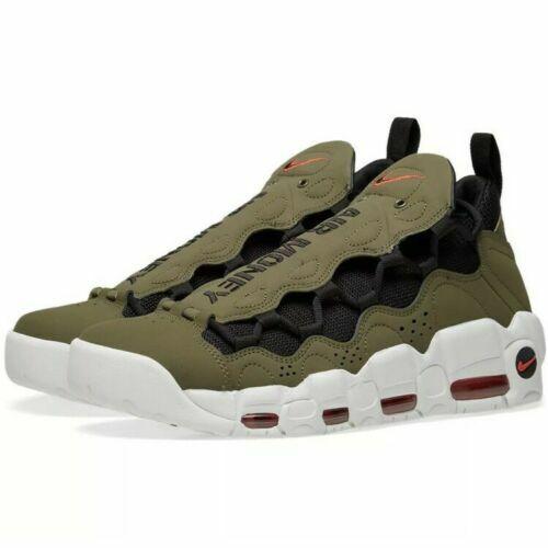 New Sz 12.5 Men Nike Air More Money Olive Black  Habablack Max Uptempo AJ2998-200