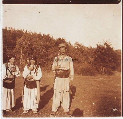 Albanien Foto Platte Gläser Stereo Positive E19 Vintage Ca 1910 Weich Und Leicht