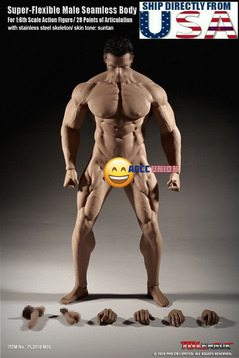 TBLeague PHICEN M35 1 6 Scale SUPER Muscular Seamless Male Figure U.S.A. SELLER