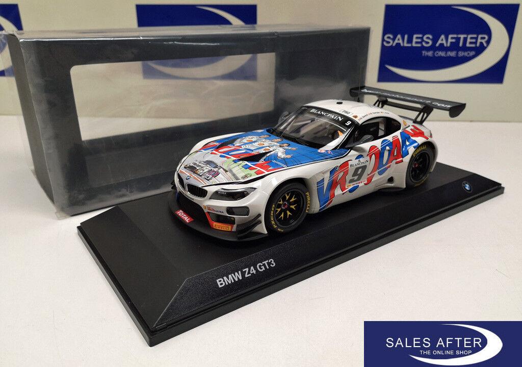 Original BMW Miniature z4 gt3 Michel  Vaillant 1 18 modèle de collection 24 H Spa 2015  prix de gros