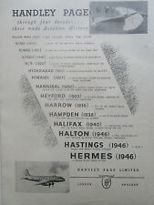 11/1946 PUB HANDLEY PAGE HASTINGS HERMES HANNIBAL HAMPDEN HALIFAX ORIGINAL AD