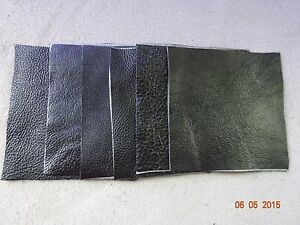 leather sheets for crafts scrap leather genuine cowhide black thin 4x4 6 pieces 4857