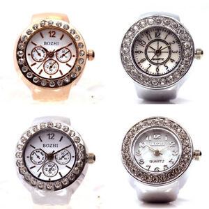 Rhinstone-Quartz-Analog-Ring-Watch-Mens-Womens-Creative-Alloy-Finger-Ring-Watch