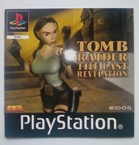 * Instructions Seulement * Tomb Raider Revelation Finale Manuel Ps1 Psone Playstation-afficher Le Titre D'origine
